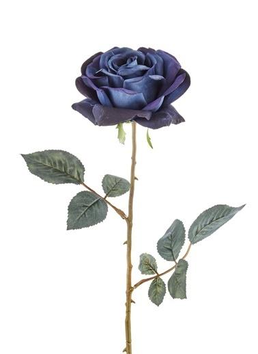 The Mia Yapay Çiçek Gül Lacivert Lacivert